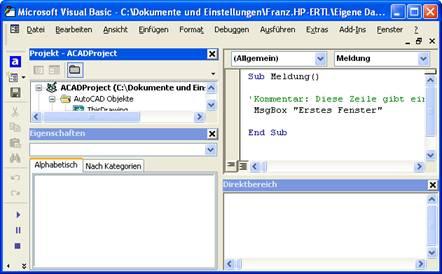 Kapitel 1: Einführung in die VBA-Programmierung